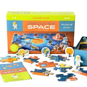 "Puzzle + Juego ""Discover Space"""