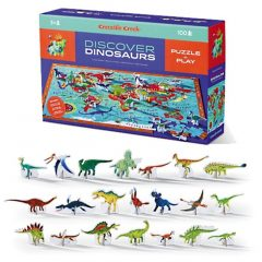 "Puzzle + Juego ""Discover Dinosaurs"""