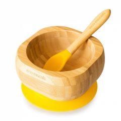 Bol y cuchara bamboo en amarillo de Eco Rascals