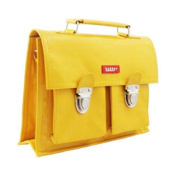 Mini cartera vinilo en amarillo de Bakker made with love