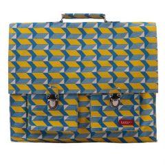 Cartera grande en amarillo, azul y blanco de Bakker made with love