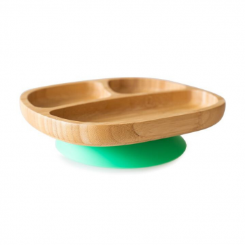 Plato bamboo verde de Eco Rascals
