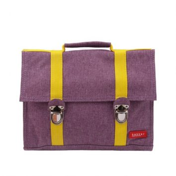 Mochila de tela impermeable púrpura de Bakker made with love