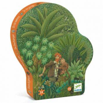 Puzzle silueta selva