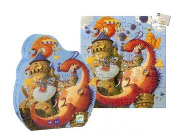 Puzzle silueta Vaillant el dragón