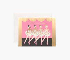 Postal cumpleaños bailarinas de Rifle Paper co
