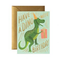 Postal cumpleaños Dinosaurio de Rifle Paper co