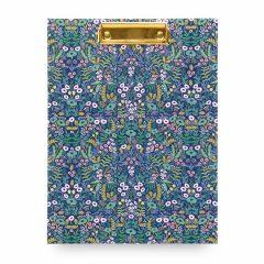 Portadocumentos con flores en fondo azul de Rifle Paper coi