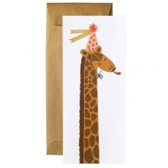 Postal cumpleaños jirafa