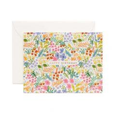 Postal cumpleaños floral de Rifle Paper co