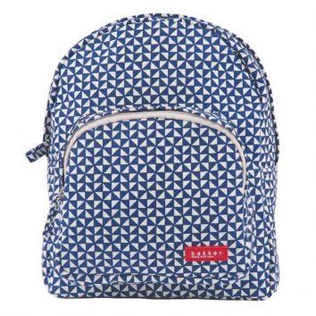 Mini mochila en azul oscuro y blanco de Bakker made with love
