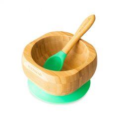Bol y cuchara verde de Eco Rascals