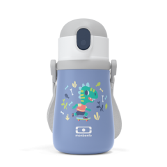 Botella térmica con pajija dinosaurio de Monbento