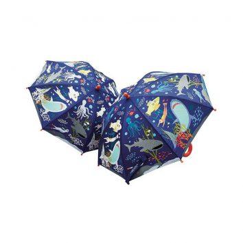 Paraguas cambia de color mundo submarino de Floss and Rock
