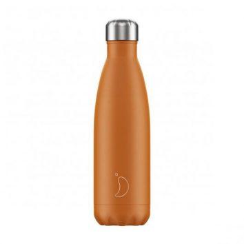 Botella térmica naranja mate 500 ml de Chilly