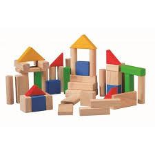 50 bloques de madera de Plantoys