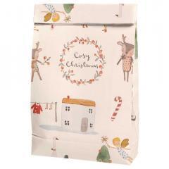 Bolsa de regalo navideña Cosy Off White de Maileg