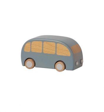 Bus de madera en color azul de Maileg