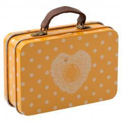 Suitcase metal Yellow dot de Maileg