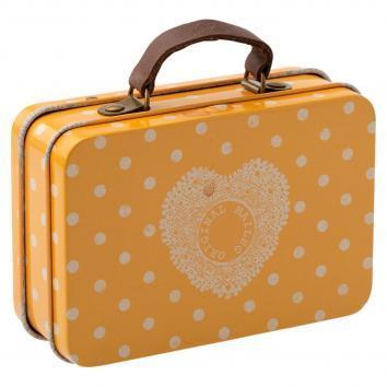 Suitcase metal Yellow dot de Maileg
