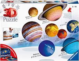 Puzzle 3d planetas