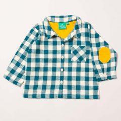 Camisa cuadros azules de Little Green Radicals