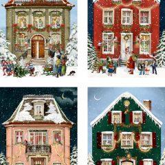 Postales navideñas Casas Victorianas de Spiegelburg