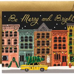 Postal navideña City Holiday de Rifle Paper Co