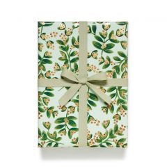 Papel de regalo Mistletoe Mint de Rifle Paper Co