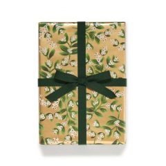 Papel de regalo Mistletoe Gold de Rifle Paper Co