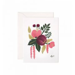 Postal Raspberry Floral Card de Rifle Paper Co