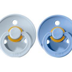 Dos chupetes Bibs Sky Blue/Baby Blue de 0 a seis meses