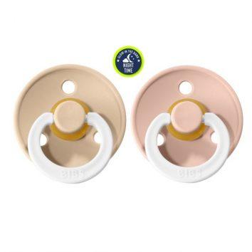 Chupetes nocturnos blush/vanilla de 0 a seis meses