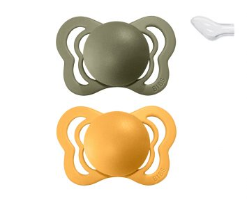 Chupetes Bibs Couture Honey Bee/Olive