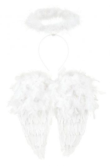 Conjunto de alas blancas y halo de Souza