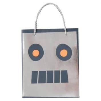 Bolsas de regalo robots de Meri meri