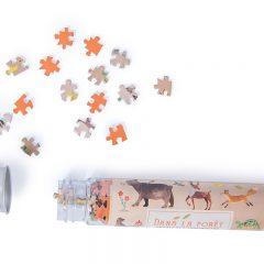 Mini puzzle animales del bosque