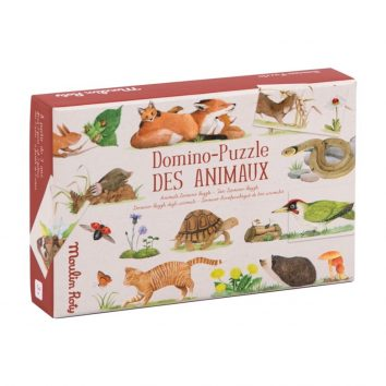 Dominó Puzzle Los animales Moulin Roty