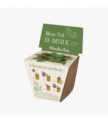Maceta de semillas de albahaca de Moulin Roty