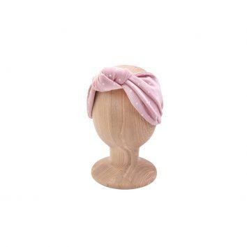 Cinta para el pelo rosa con lunares de Ul & Ka