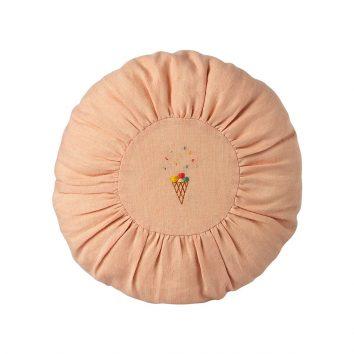 Cojín redondo pequeño rosa con helado Maileg